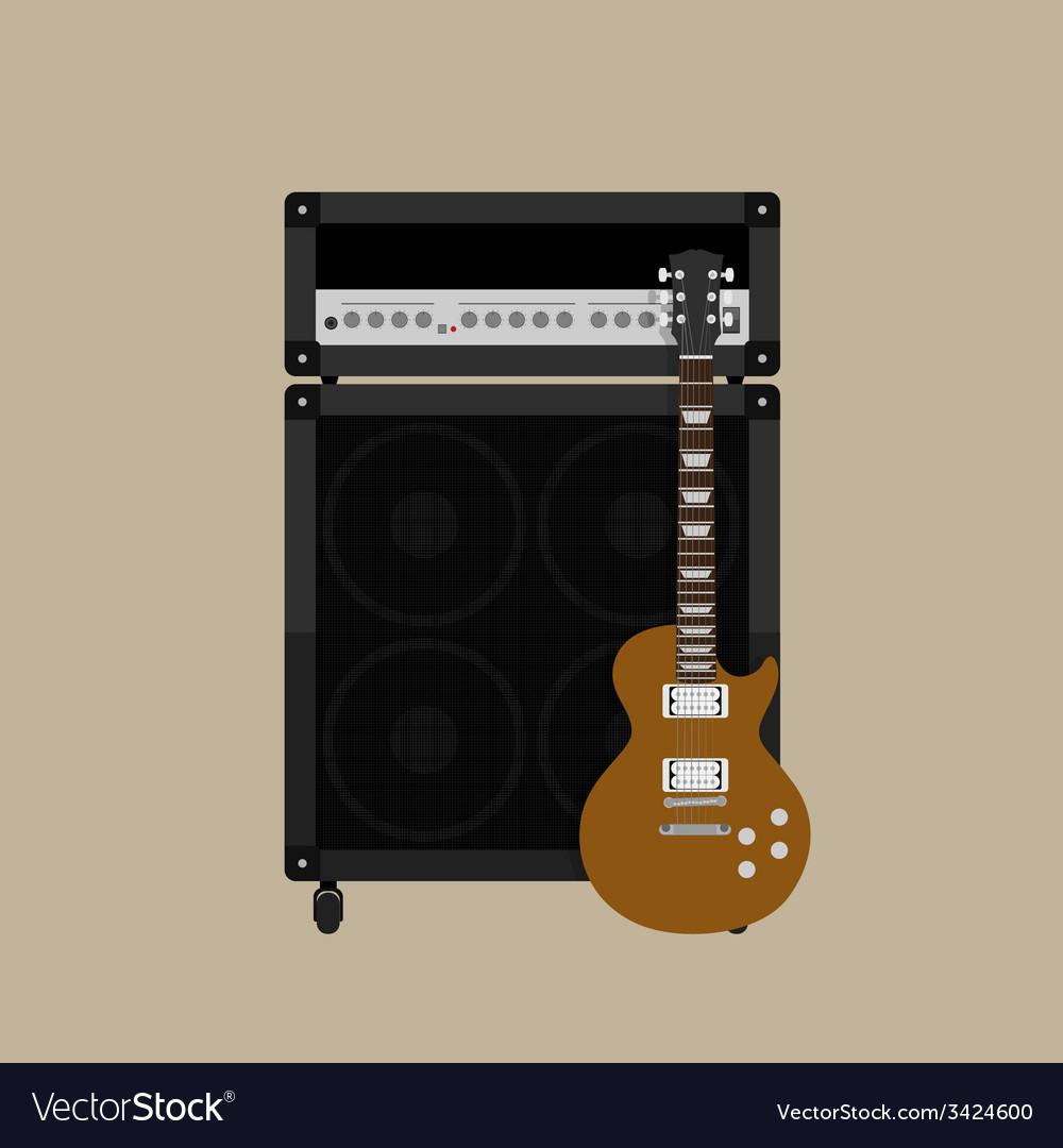 Guitar amplifier guitar 2 vector | Price: 1 Credit (USD $1)