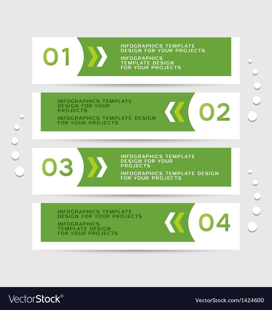 Infographics design with green banners vector | Price: 1 Credit (USD $1)