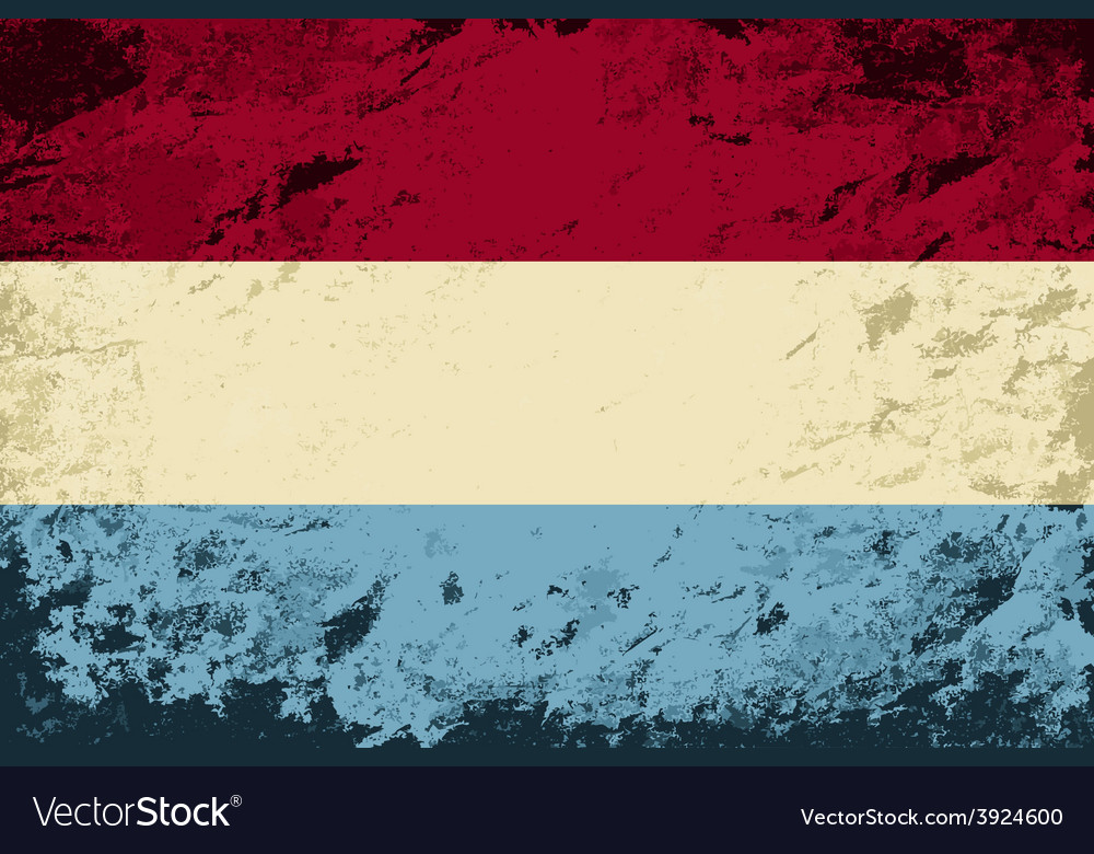 Luxembourg flag grunge background vector | Price: 1 Credit (USD $1)