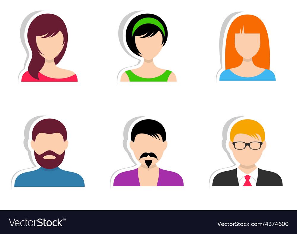 Men and women labels vector | Price: 1 Credit (USD $1)