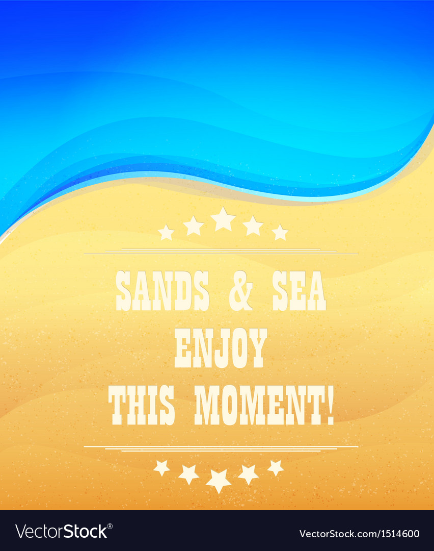 Sands and sea vector | Price: 1 Credit (USD $1)