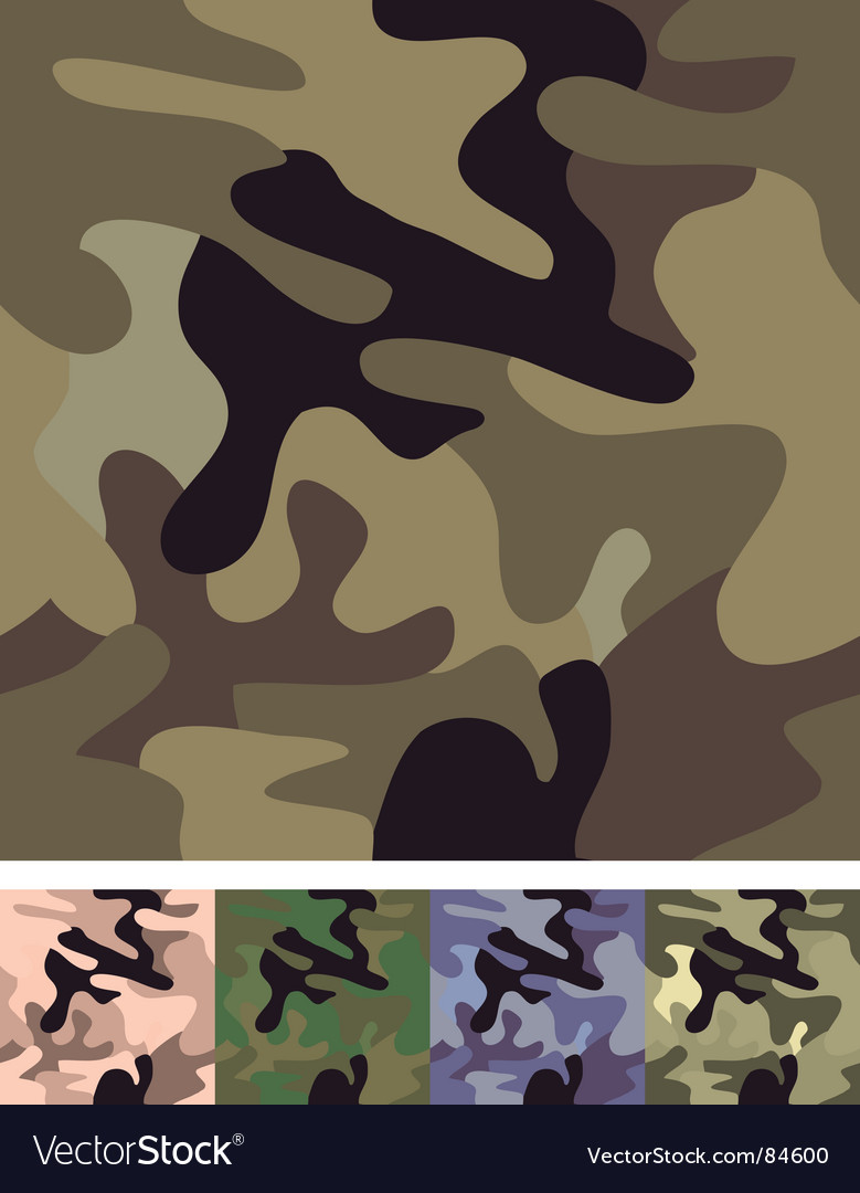 Seamless camouflage background vector | Price: 1 Credit (USD $1)