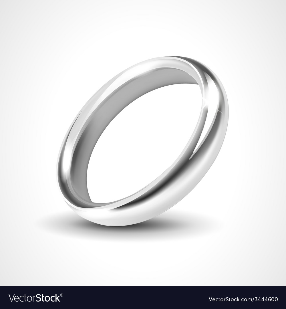 Silver ring isolated on white background vector | Price: 1 Credit (USD $1)