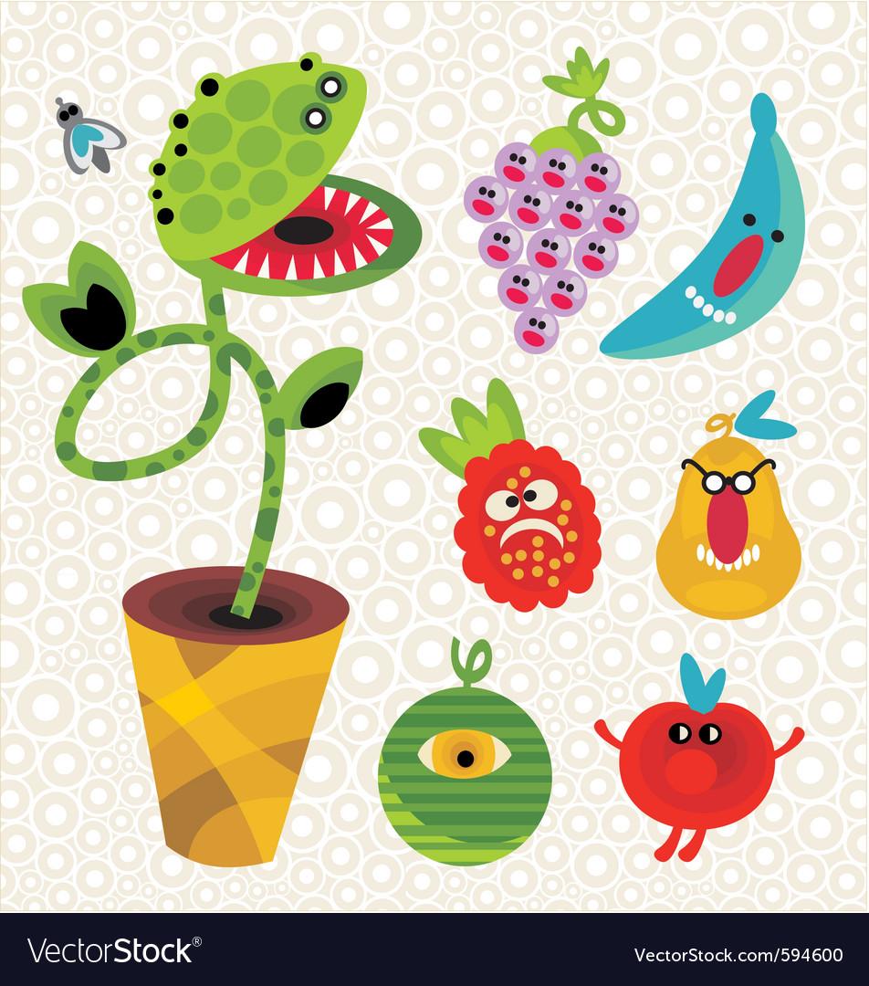 Vegetation cartoons vector | Price: 1 Credit (USD $1)