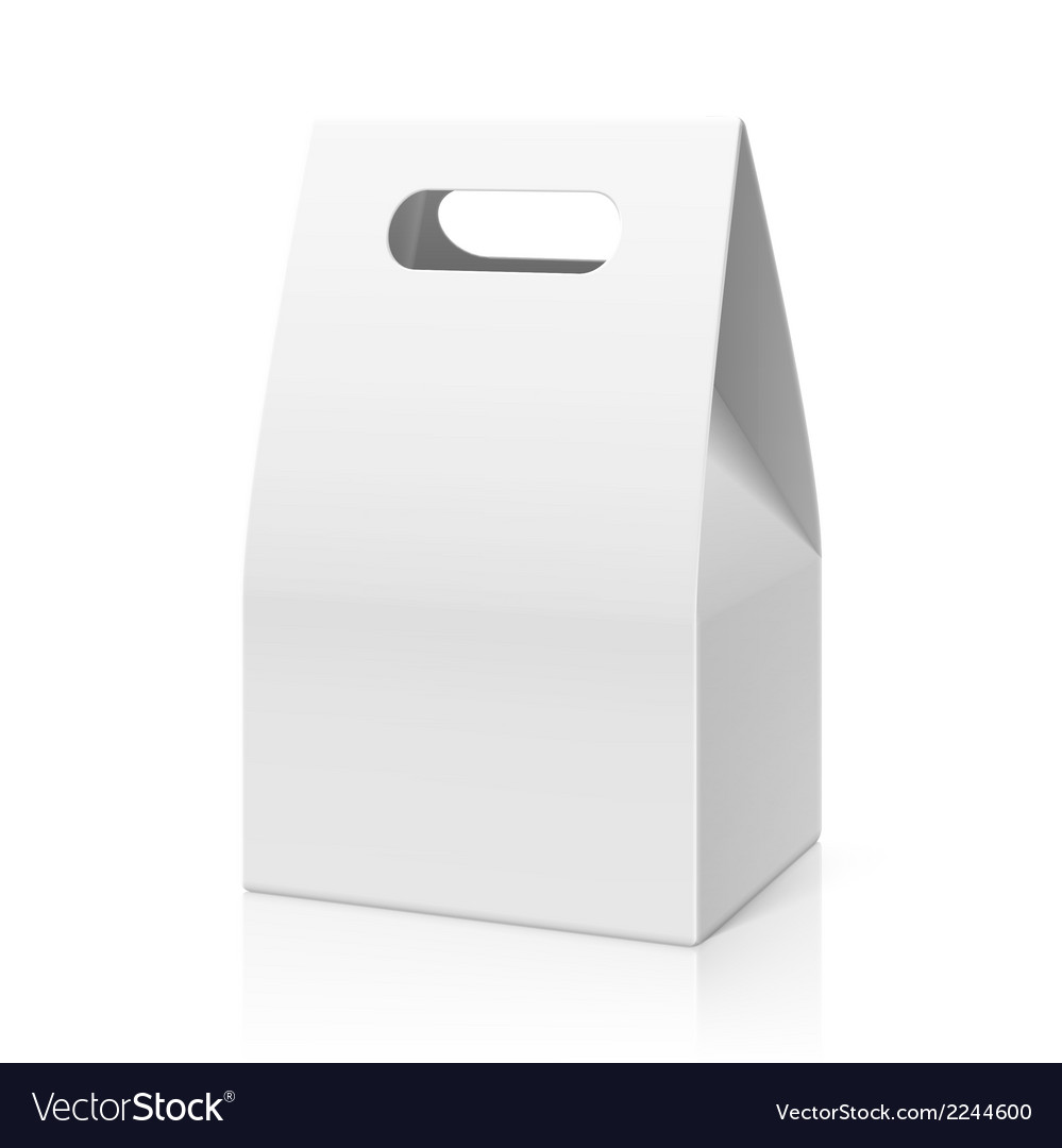 White blank hand paper bag vector | Price: 1 Credit (USD $1)