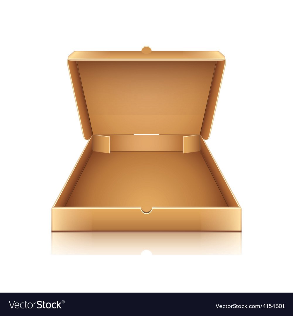Blank cardboard pizza box isolated on white vector | Price: 3 Credit (USD $3)