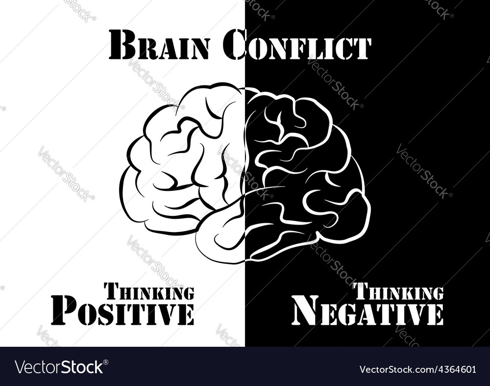 Brain conflict vector | Price: 1 Credit (USD $1)