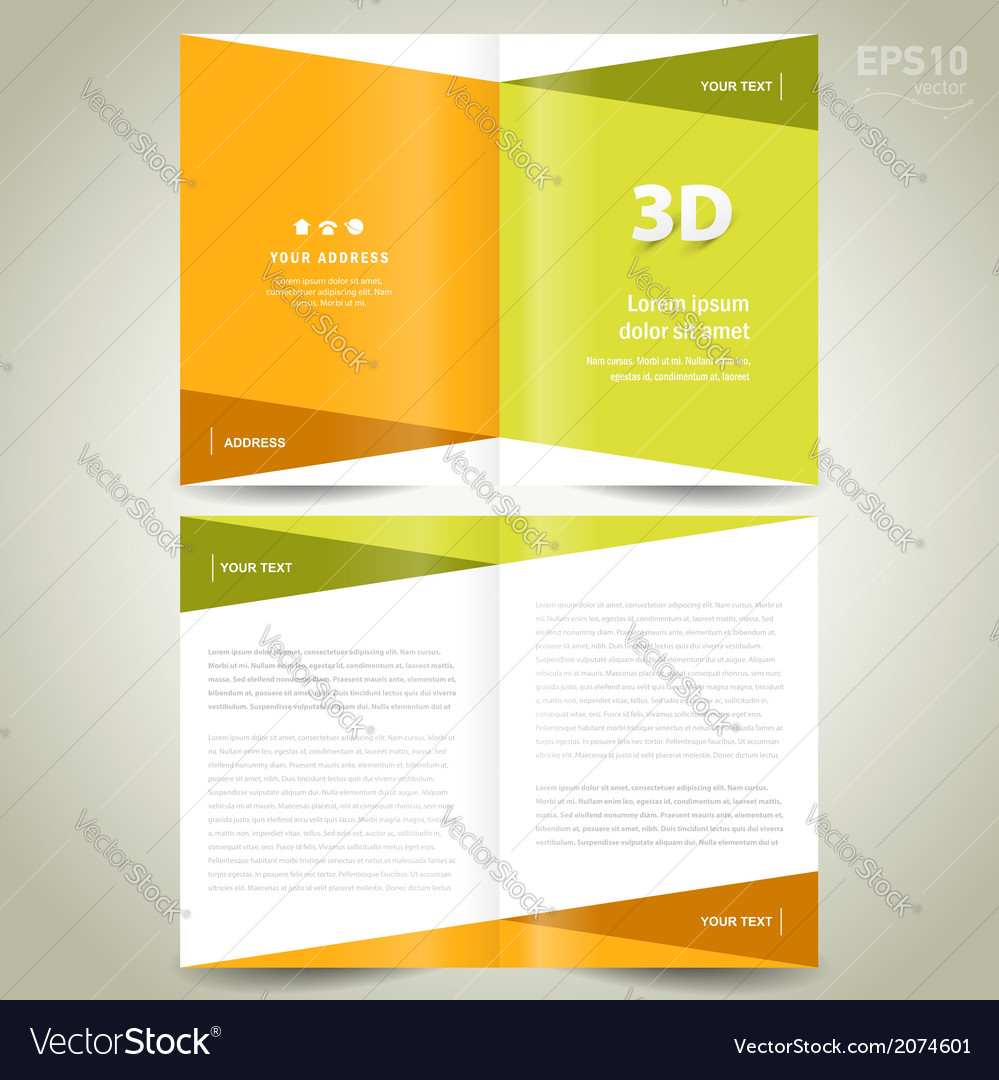 Brochure design template - booklet flat geometric vector | Price: 1 Credit (USD $1)