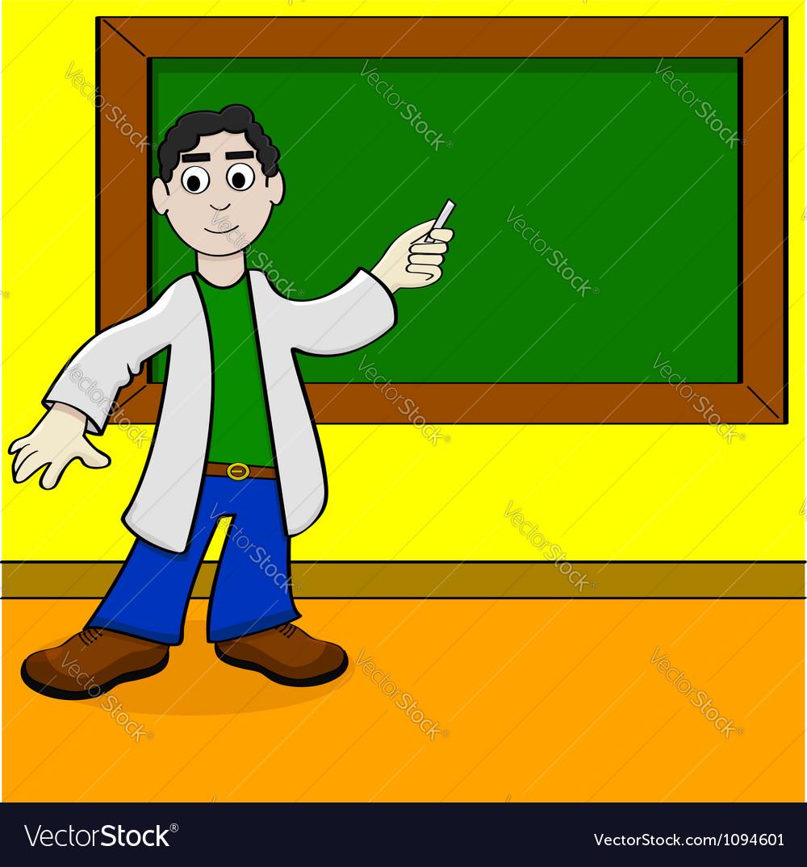 Cartoon teacher vector | Price: 1 Credit (USD $1)