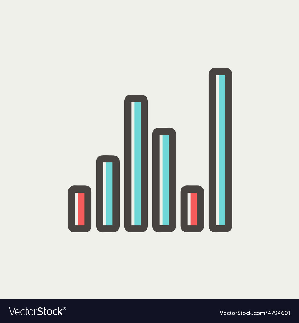 Equalizer thin line icon vector