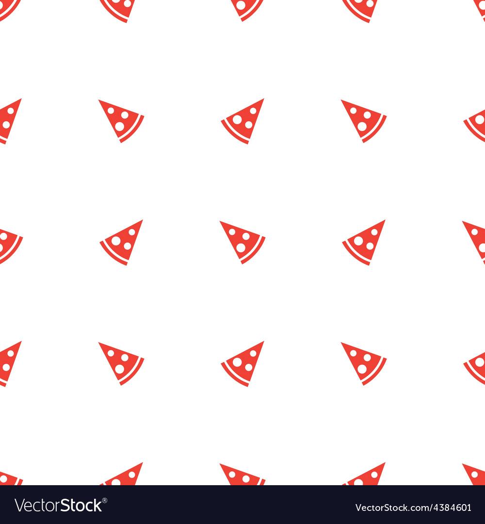 Geometric minimalistic orange pizza piece vector | Price: 1 Credit (USD $1)