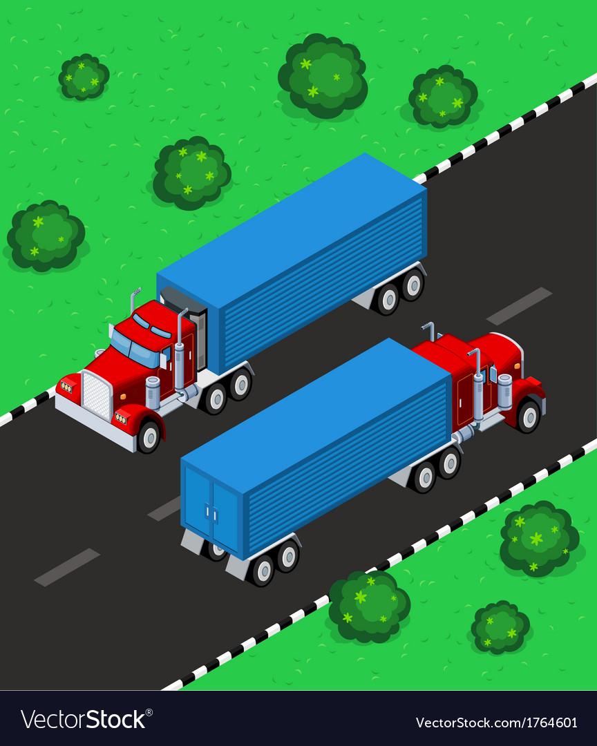 Isometric truck vector | Price: 1 Credit (USD $1)
