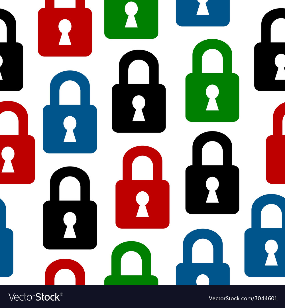 Lock icon seamless pattern vector | Price: 1 Credit (USD $1)
