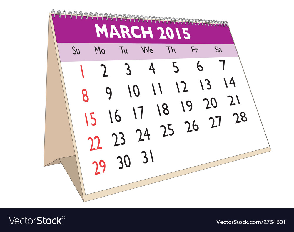 March 2015 vector | Price: 1 Credit (USD $1)