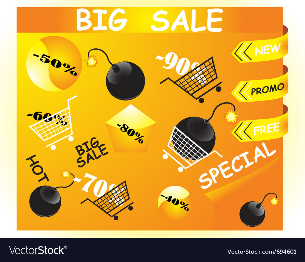 Shopping icons vector | Price: 1 Credit (USD $1)