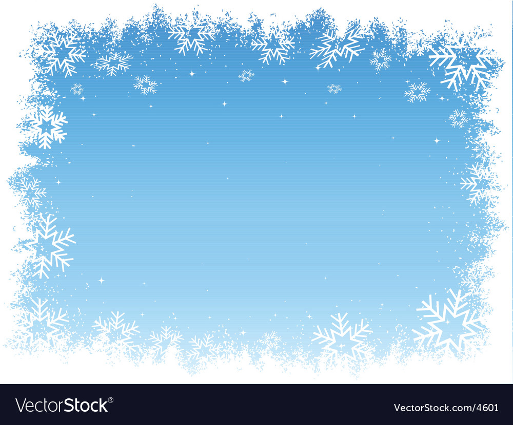 Snowflake border vector | Price: 1 Credit (USD $1)