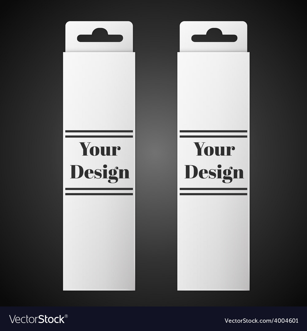 White package box isolated on black vector | Price: 1 Credit (USD $1)