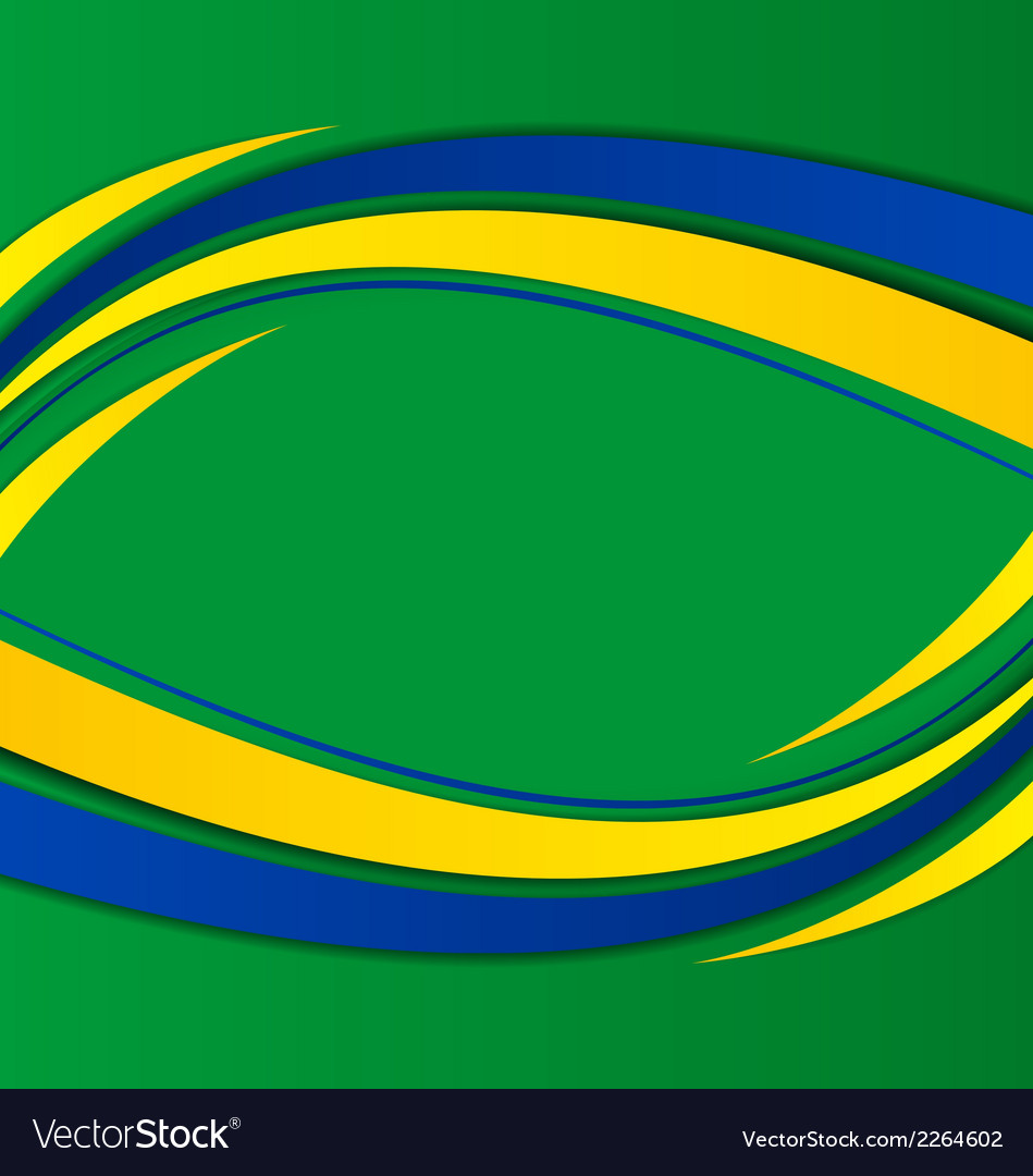 Abstract background in brazil flag concept vector | Price: 1 Credit (USD $1)