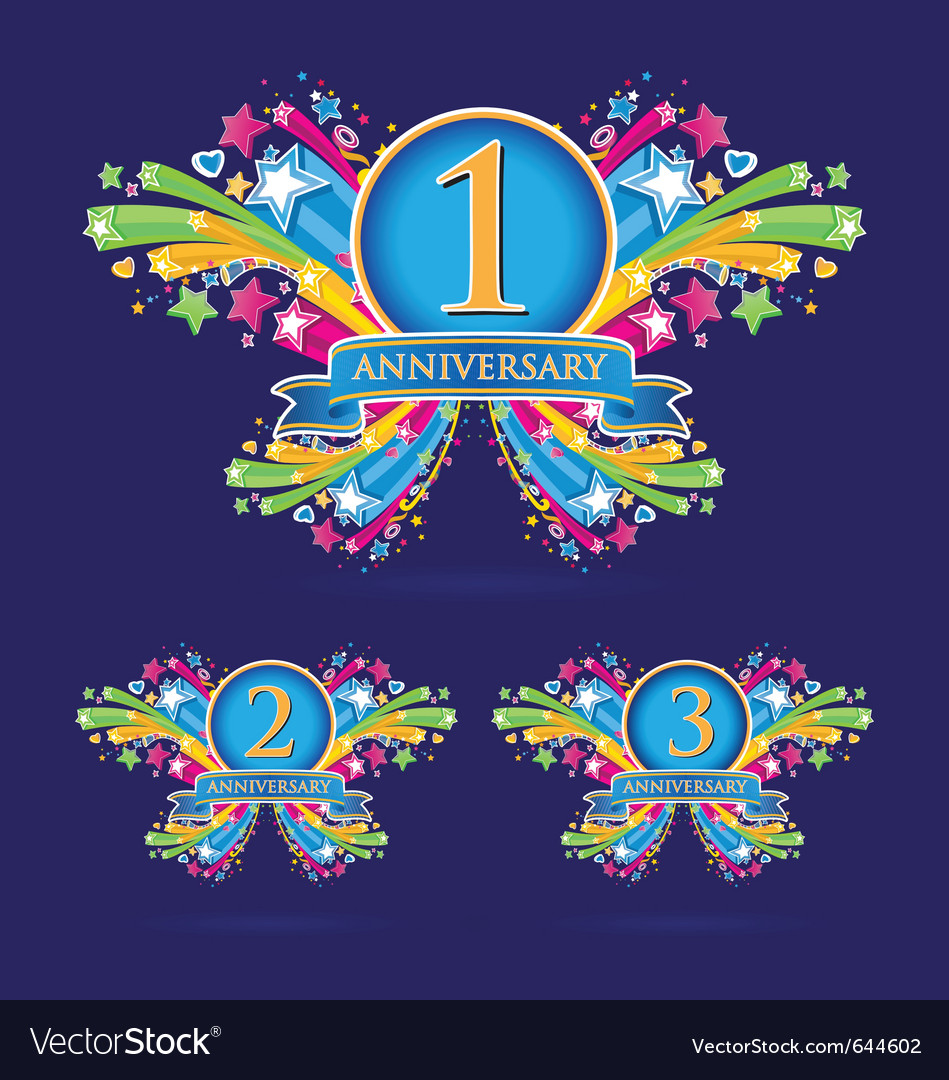 Anniversary vector | Price: 1 Credit (USD $1)