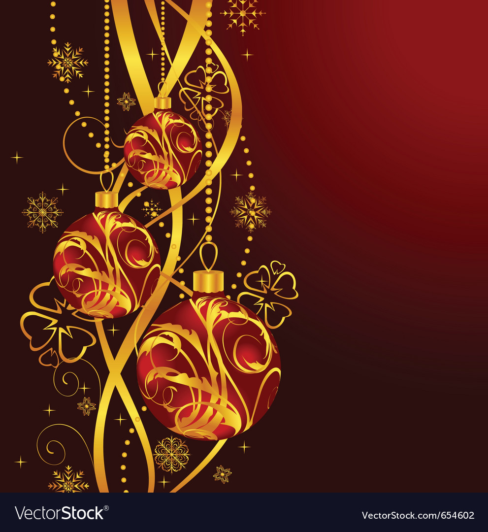 Christmas background with set balls - vector   Price: 1 Credit (USD $1)