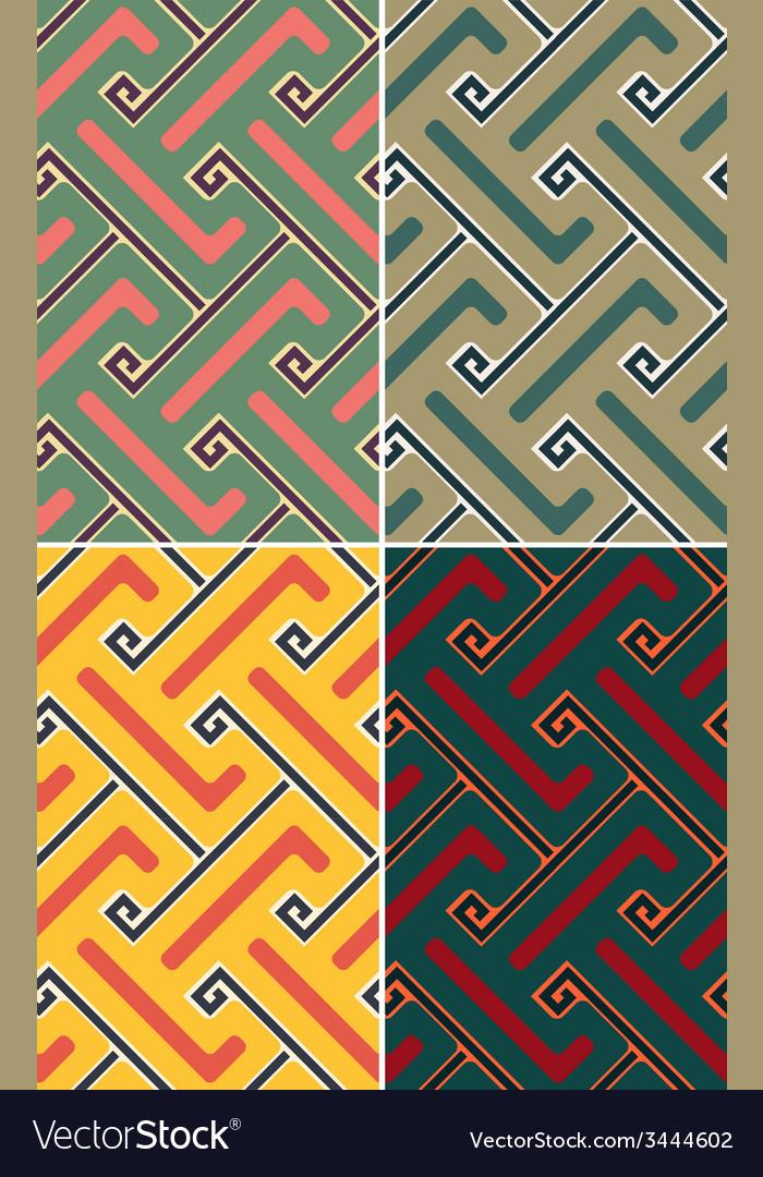 Indian geometric pattern seamless vector | Price: 1 Credit (USD $1)
