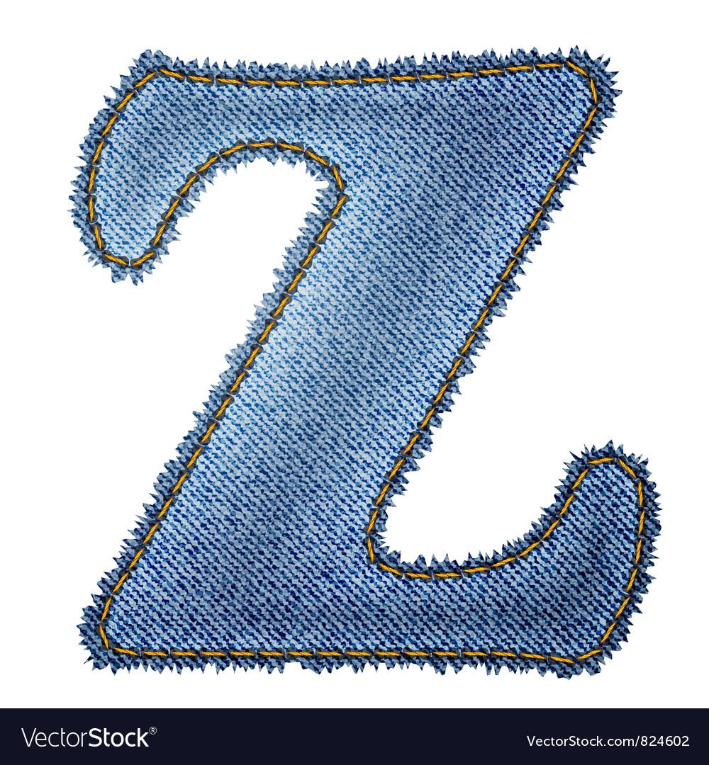 Jeans alphabet denim letter z vector | Price: 1 Credit (USD $1)