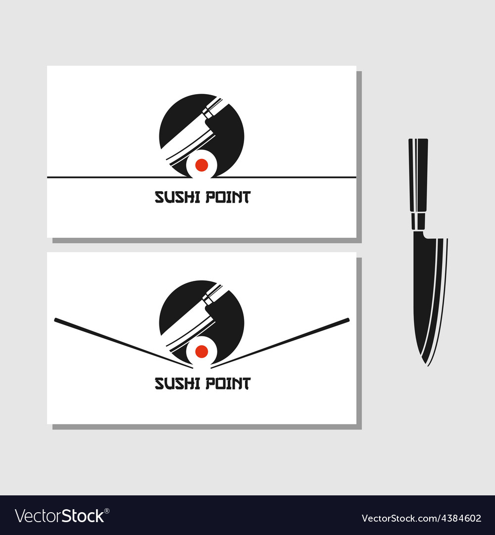 Logo design element sushi roll japan vector | Price: 1 Credit (USD $1)