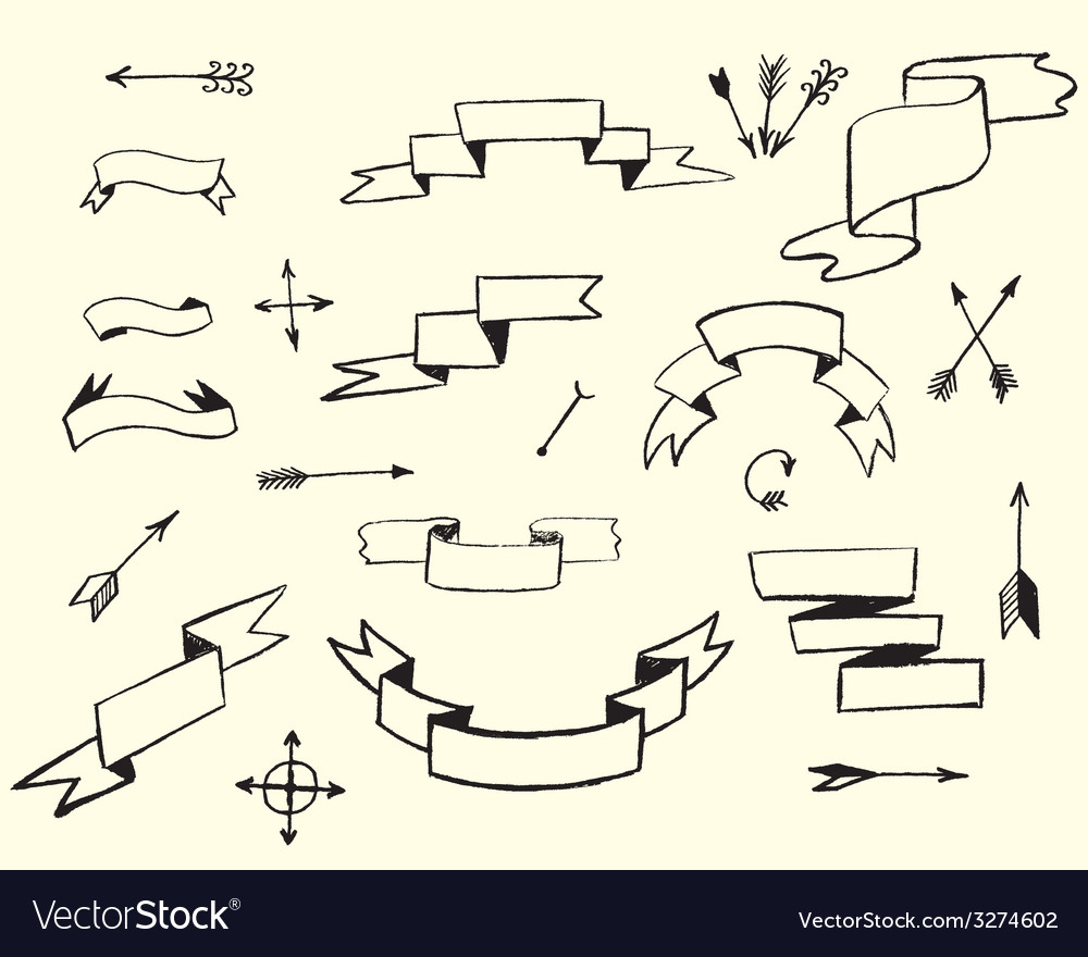 Ribbons and arrows vector | Price: 1 Credit (USD $1)