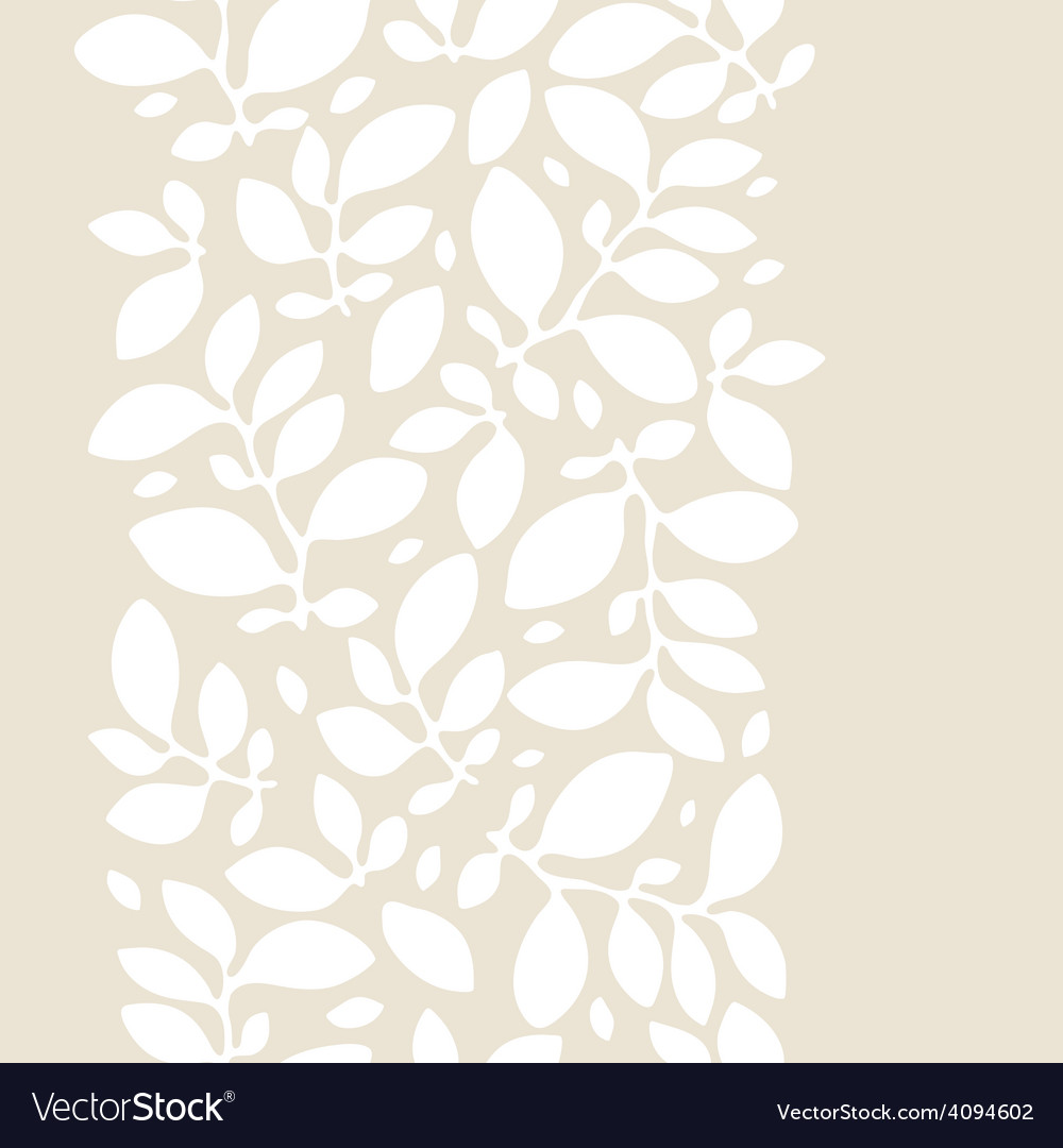 Seamless nature pattern with stylized leaves vector | Price: 1 Credit (USD $1)