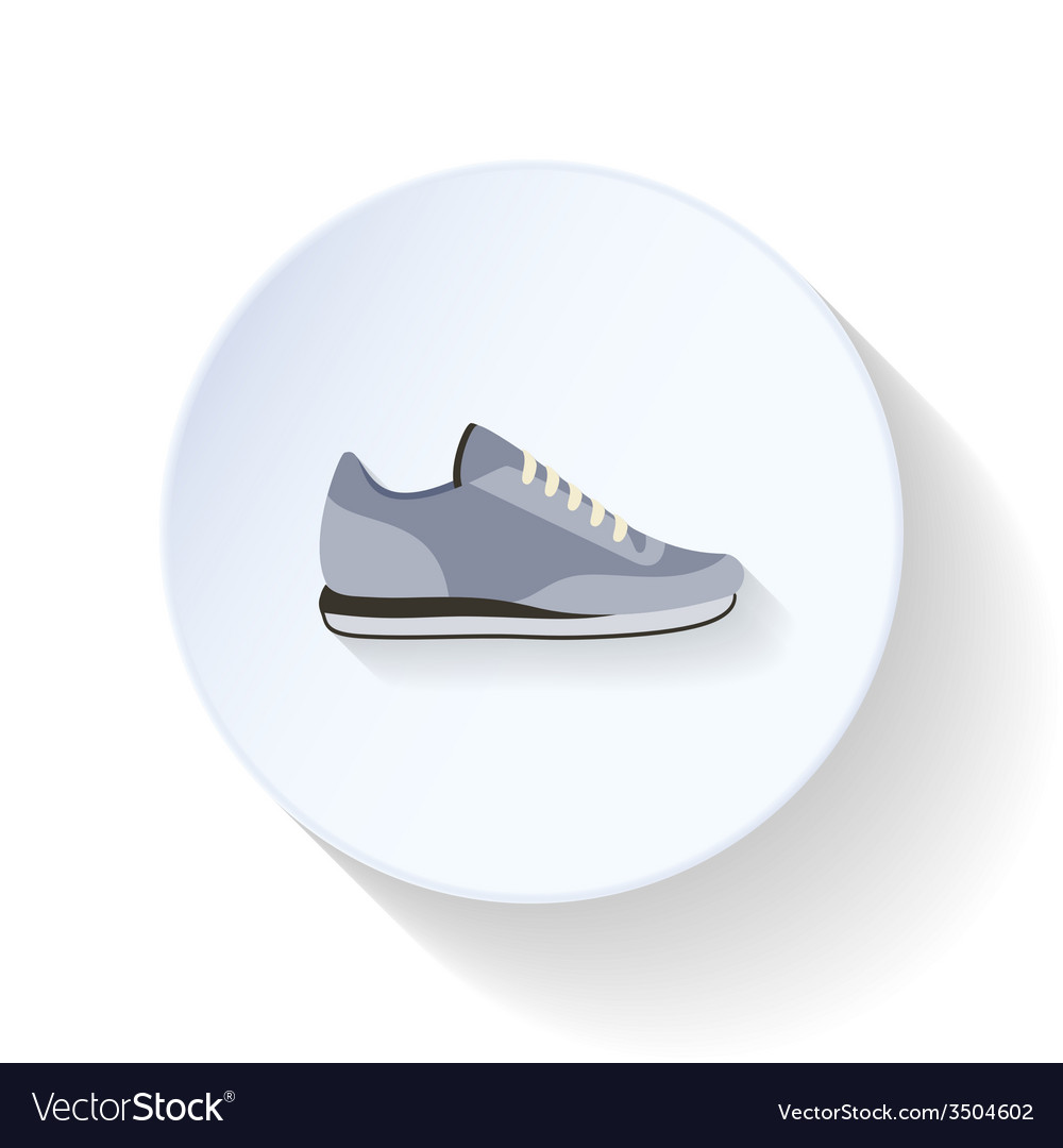 Sneakers flat icon vector | Price: 1 Credit (USD $1)