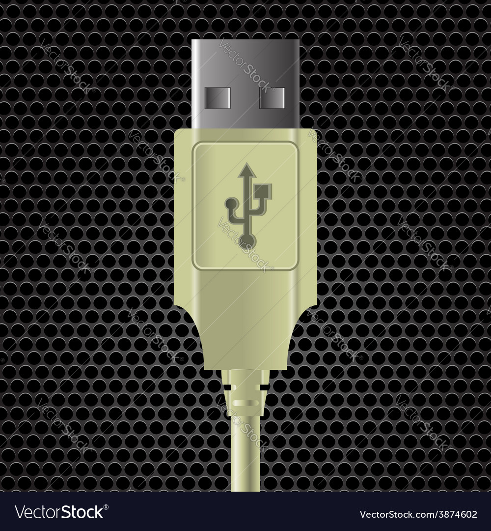 Usb cable vector | Price: 1 Credit (USD $1)