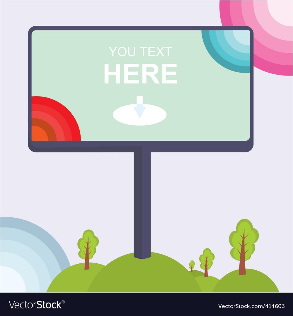 Billboard vector | Price: 1 Credit (USD $1)