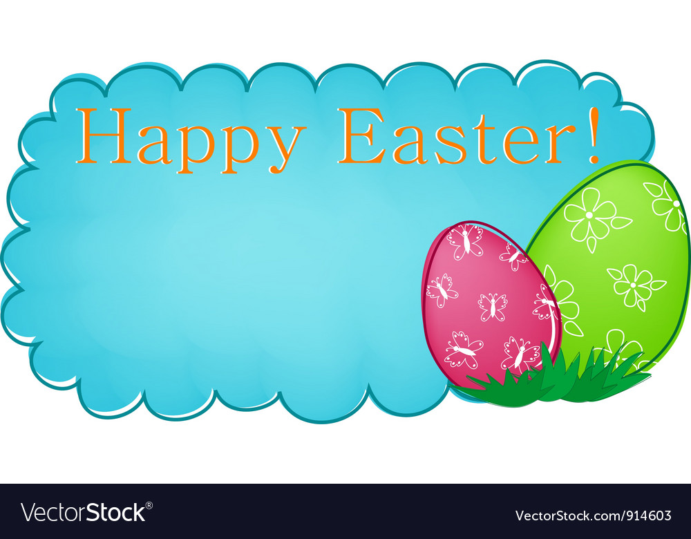 Blue easter banner vector | Price: 1 Credit (USD $1)
