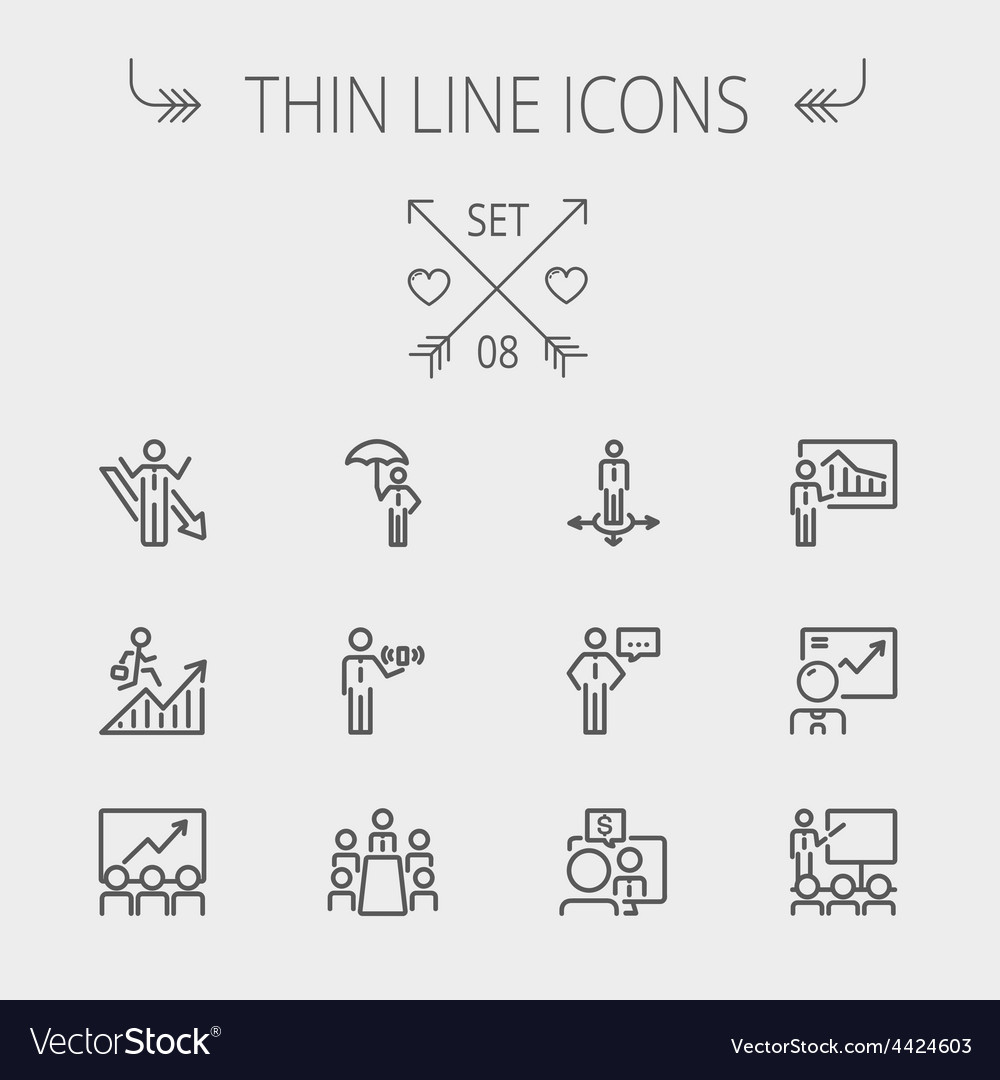 Business thin line icon vector | Price: 1 Credit (USD $1)