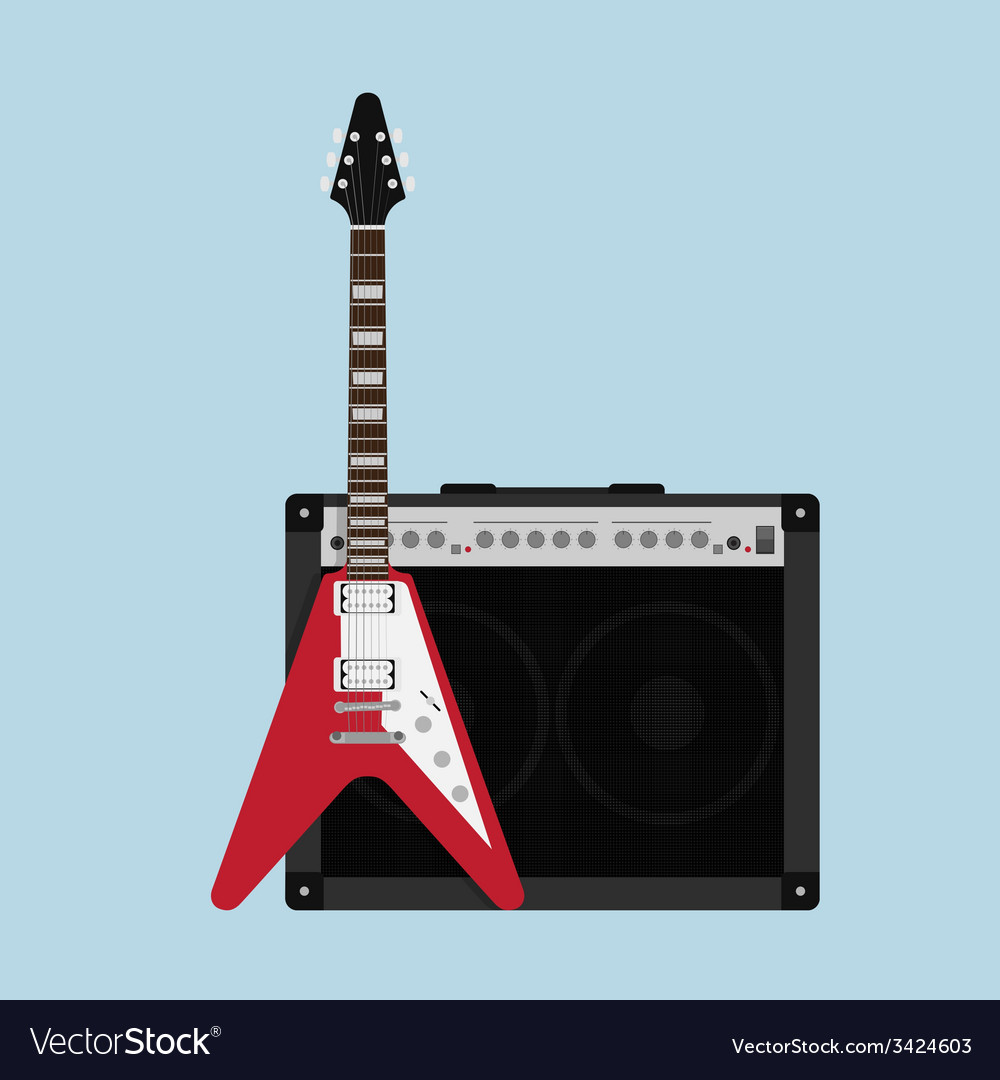 Guitar amplifier guitar vector | Price: 1 Credit (USD $1)