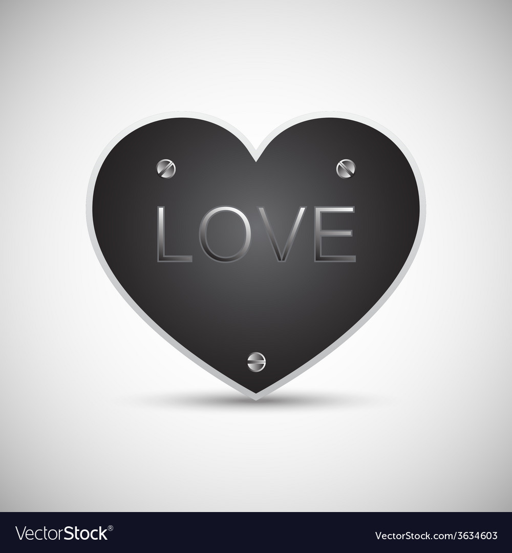 Iron love heart vector | Price: 1 Credit (USD $1)