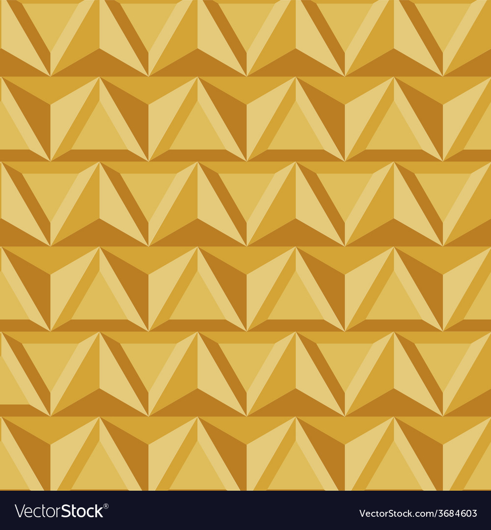 Modern geometric triangle gold background vector | Price: 1 Credit (USD $1)