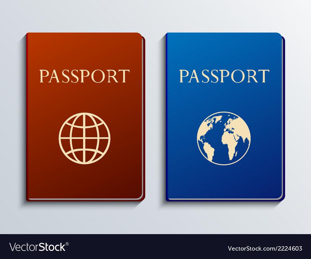 Modern passports set vector | Price: 1 Credit (USD $1)