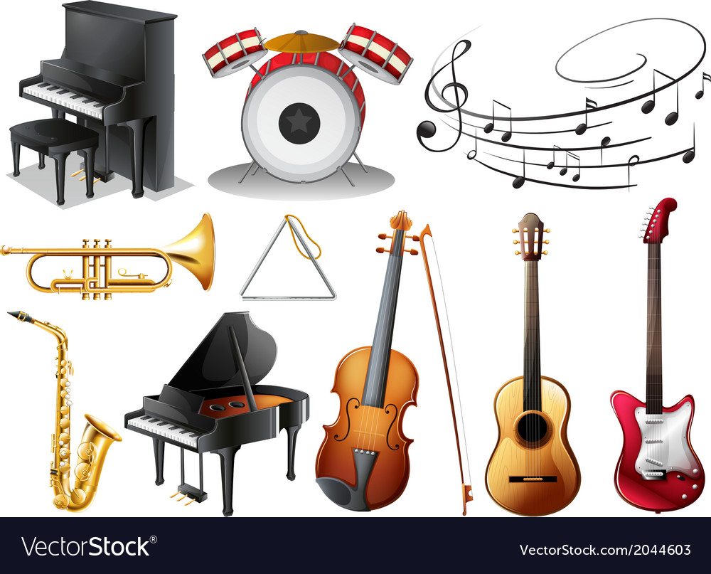 Set of musical instruments vector | Price: 3 Credit (USD $3)