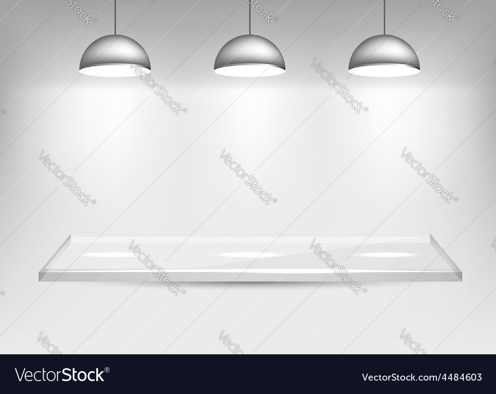 Shelf with lights vector | Price: 1 Credit (USD $1)
