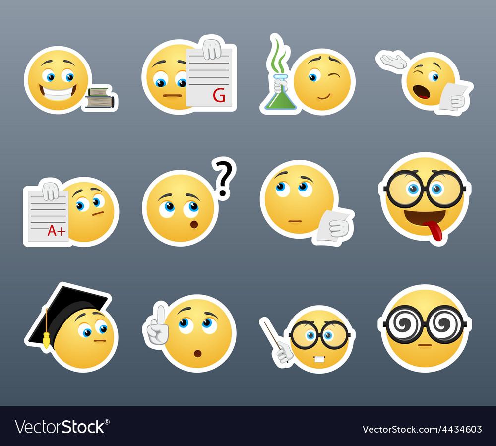 Smiley nerd vector | Price: 1 Credit (USD $1)