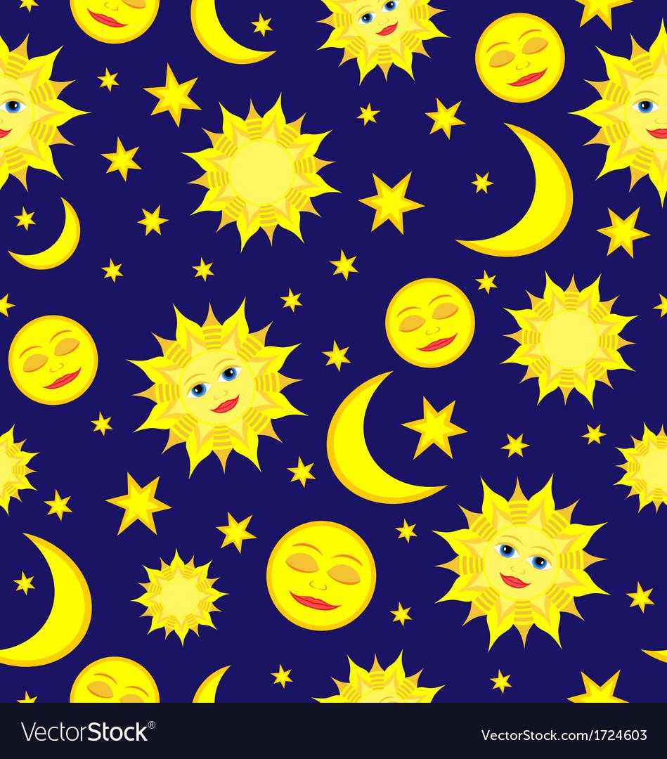 Sun moon pattern vector | Price: 1 Credit (USD $1)