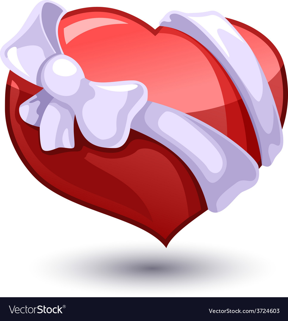Valentine heart with a bowknot vector   Price: 1 Credit (USD $1)