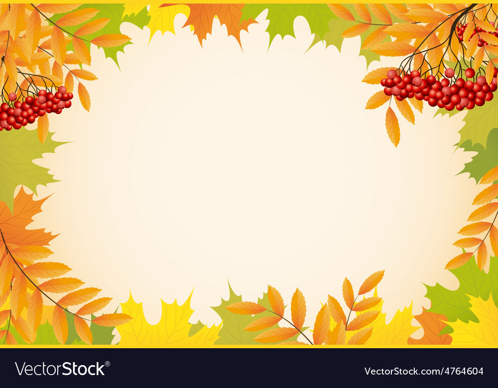 Abstract autumn background with maple leaves and vector | Price: 1 Credit (USD $1)