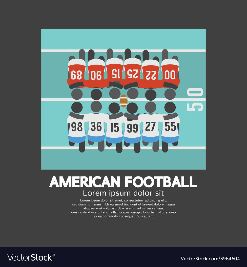 American football players top view vector | Price: 1 Credit (USD $1)
