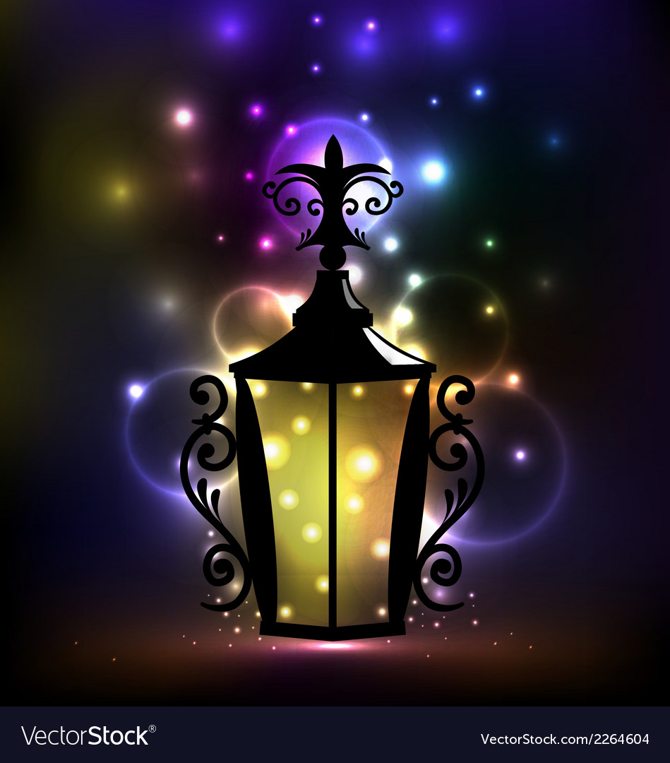 Arabic forging lantern for ramadan kareem vector | Price: 1 Credit (USD $1)