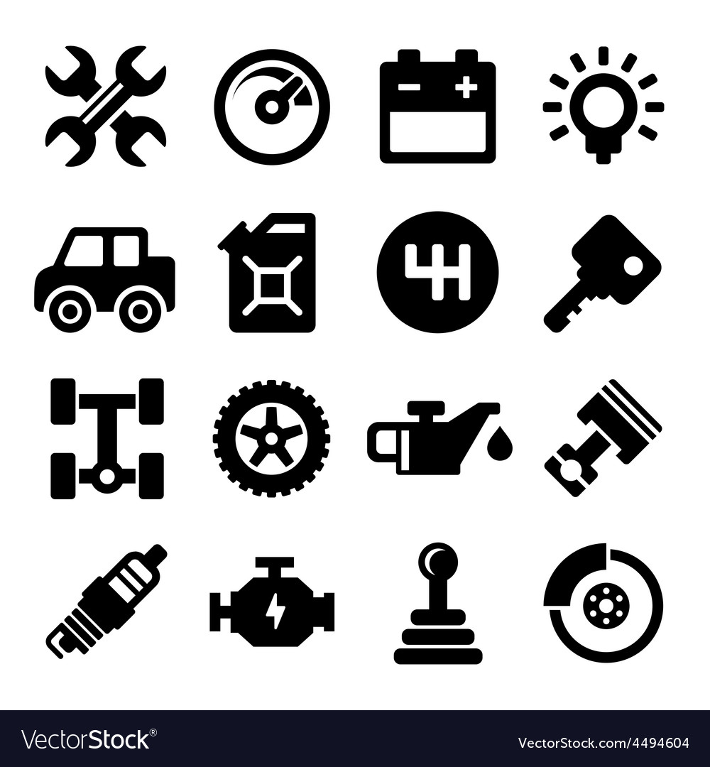 Auto repair service icons vector | Price: 1 Credit (USD $1)