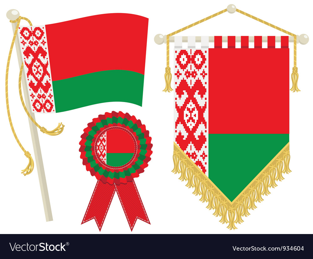 Belarus flags vector | Price: 1 Credit (USD $1)