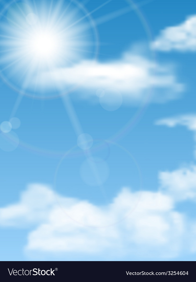 Cloudscape sun sky vector | Price: 1 Credit (USD $1)