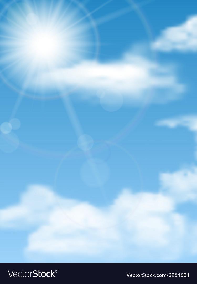 Cloudscape sun sky vector | Price: 1 Credit (USD $1)